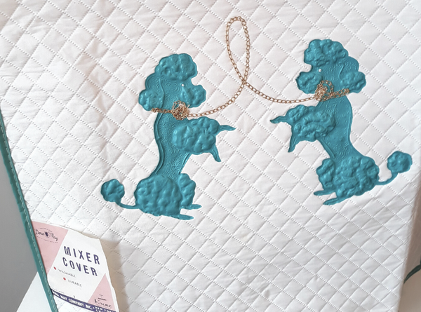 1950s Kitchen Mixer Poodle Cover - Turquoise - NEW DEADSTOCK by Dora May