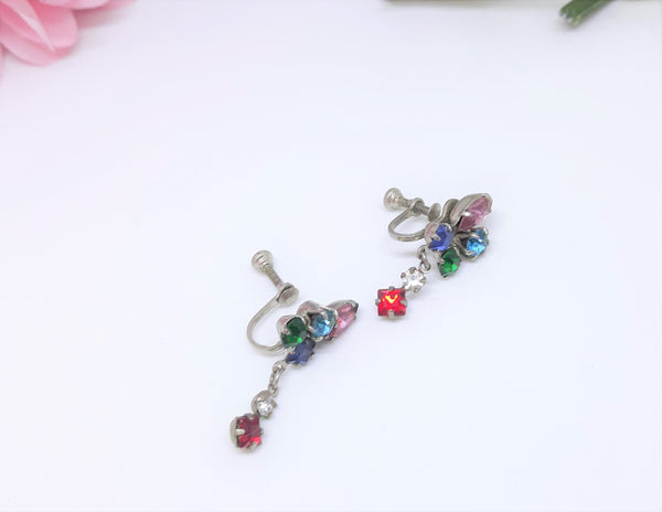 Multi Colour Earrings Screwback Earrings