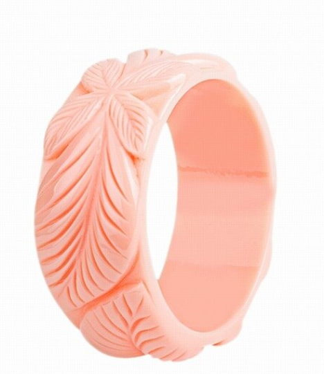 Vintage Inspired Peach Tiki Bangle - 1940s/50s Inspired