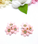 Coro, 1950's, Pink Earrings, Mid-Century Modern, Clip-ons, Vintage, Pretty in Pink, Vintage Wedding