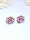 Gorgeous 1960s Statement Earrings - Pink Thermoset or Lucite Cabachon Clip-on Earrings