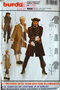 Burda 2459 - Pirate and Casnova Costume, Uncut Sewing Pattern for Film, Plays or Halloween