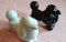 Vintage 1950s Inspired Black and White Salt and Pepper Shakers