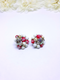 Late 1940s/50s Red, White and Gold Clip-on Earrings