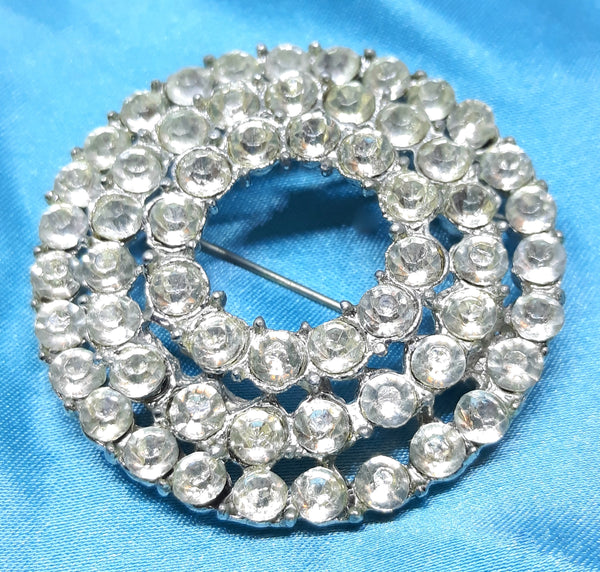 Statement Rhinestone Brooch - 1950s