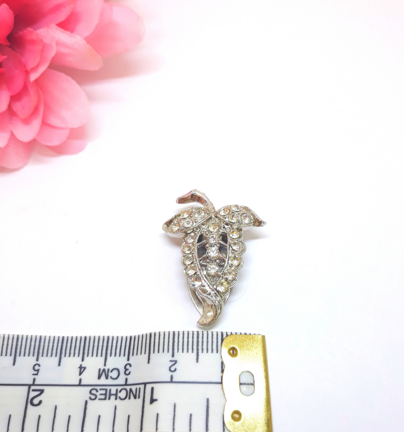 Floral Splendor - 1950s/40s Rhinestone Dress Clip