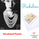 Richelieu Simulated Pearl Stud Earrings - Pierced - 80s/90s
