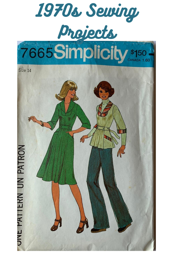 Simplicity 7665 Sewing Pattern, Cut, Size 14, Misses Dress or Top