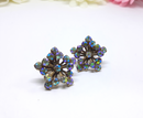 1950s - 1960s Rhinestone Starburst or Snowflake Clip-On Earrings