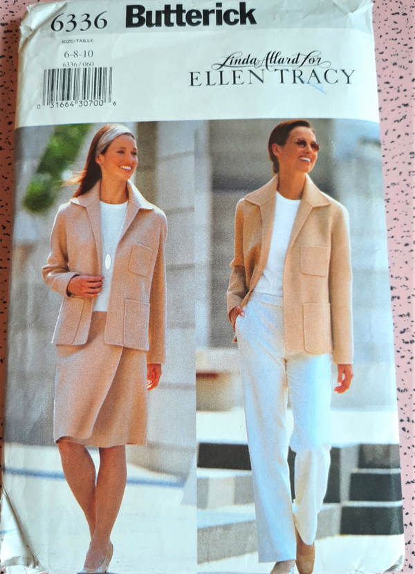 Butterick 6336 Woman's Sewing Pattern - Linda Allard for Ellen Tracy, Size 6-10, Uncut