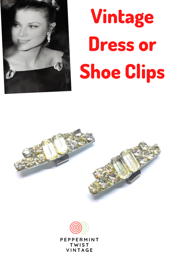 Gorgeous Vintage Rhinestone Dress Clip or Shoe Clips