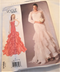 Vogue 2017 Wedding and Prom Dress Pattern #1495 Size 6-14