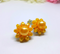 Gorgeous 1950s Canary Yellow Floral Earrings