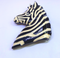 Vintage Black and White Zebra Brooch
