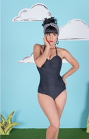 Pin-up One Piece Swim Suit - SIZE 2X BLACK NEW WITH TAGS - LAST ONE