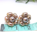 Caramel Coloured - Made in Japan 1950s Earrings