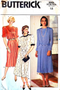 Butterick 6682 Size 12 Dress Patterns, Cut 1980s Dress