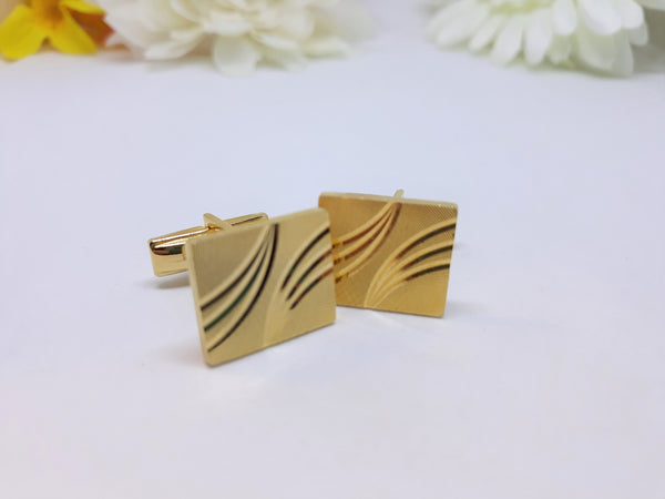 Gold Plated, Men's 1961 Cuff Links - In excellent condition - Patent 2.974.381 Marked