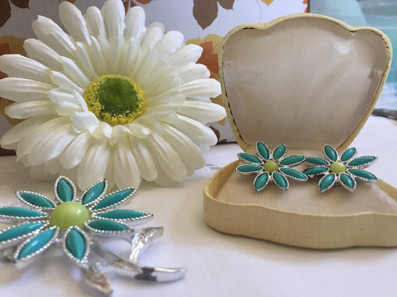 Vintage 1960's Demi-parure Gorgeous, Unique, Rare, Ready to Ship, Mid-Century Modern, Sarah Coventry