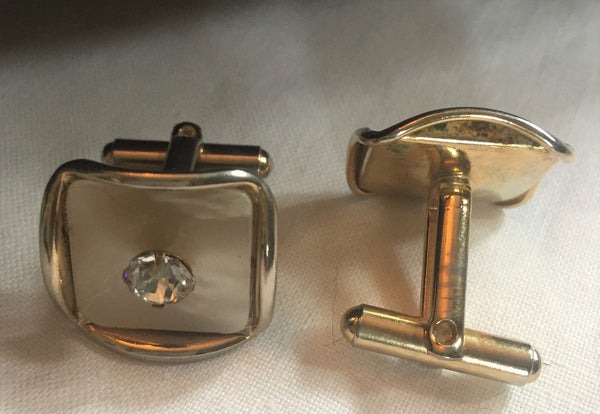 1960's Mid Century Modern Cuff links Mother of Pearl  - Mad Men, Stunning