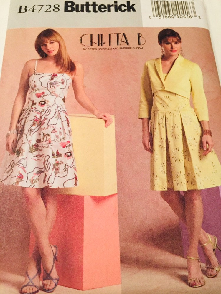 Butterick Uncut, B4728 Dress Patter Woman's Dress Pattern, Size 14-18, Made in the US, Size 14-18