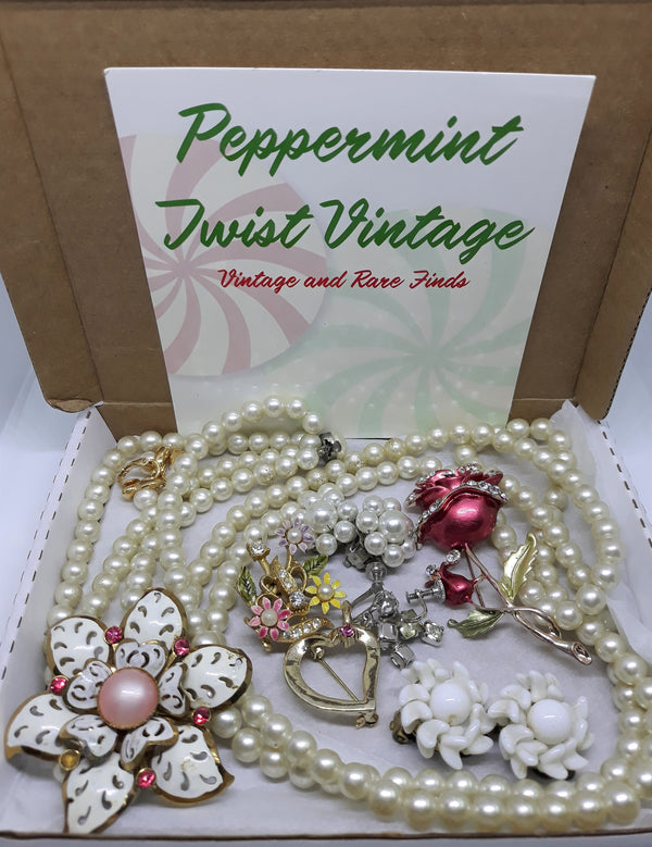 SURPRISE BOX - Mixed vintage jewelry from the 1950s and beyond. Give yourself a surprise in the mail