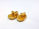 Napier Signed, Swirl Gold Tone Clip-on Earrings
