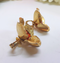 Sarah Coventry, Signed Amber and Gold Flower Clip-on Earrings, in Mint Condition - Very Glamourous
