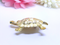 Vintage Gold Tone Turtle Brooch - Pin, Signed Sammy's Copyright, 1990s, Novelty Brooch