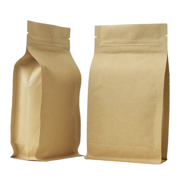 Brown Craft Paper Bags Grip Seal Foil Pouch Very Strong w// Gusset Smell Free