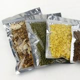 Clear Front Silver Back Grip Seal Bags Flat Pouches BPA & Smell Free Suitable For Food Packaging