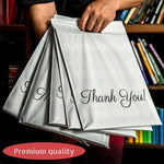 100 Mailer Bag Mailing Postal Bags With Handle For Packaging Shipping Thank You