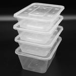 Clear Takeaway Food Plastic Containers Microwave/Freezer Safe with Secure Lids Suitable for Rice, Curry, Salad, Desserts Multi-Purpose Use