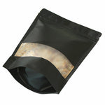 50 Pack Black Strong Grip Seal Gusset Craft Paper Bags Smell Free Clear Window