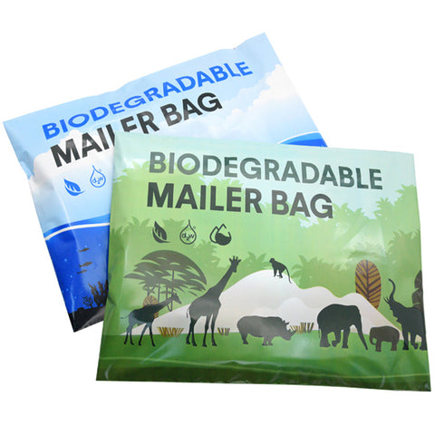 Pack of 100 Biodegradable Mailer Bags Self Seal Strong Designer Mailing Envelope