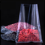 100 Open Top Bags Flat Pouch Both Side Clear Transparent Packing Heat Seal-able