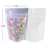 100 x Clear/White Grip Seal Bags Gusset Base Stand Up Pouch Food Packaging BPA/Smell Free