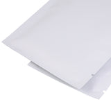 100 x Matte White Open Top Heat Sealant Bags Flat Pouch For Food Packaging
