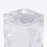 100 x Clear/Silver Grip Seal Bags Flat Pouch For Packaging Art and Craft, Accessories, Food, Herbs BPA Free