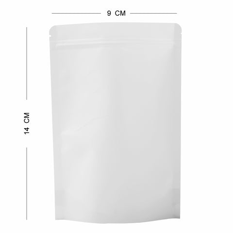 100 x White Strong Grip Seal Gusset Craft Paper Bags BPA Smell Free For Food Packing