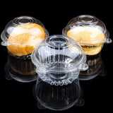 Clear Pod Muffin Container Individual Plastic Dome Box For Large Muffin, Salad, Cheese, Cakes, Pasta