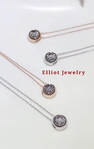 Donut Diamond Pendent in 18K Gold | Elliot Jewelry