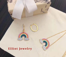 Load image into Gallery viewer, Colorful Rainbow Necklace | Elliot Jewelry