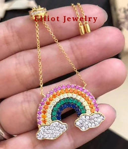 Colorful Rainbow Necklace | Elliot Jewelry