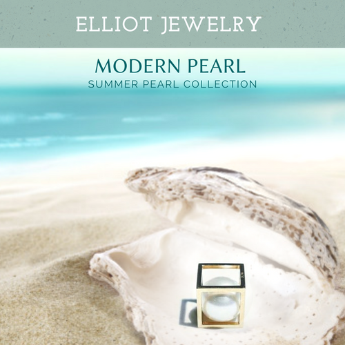 So Cube Pearl Pendent - Elliot Jewelry