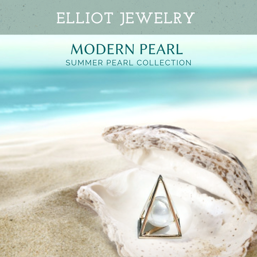 Pyramid Pearl Pendent - Elliot Jewelry