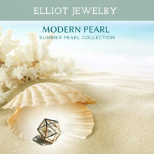 Load image into Gallery viewer, Hexagon Pearl Pendent - Elliot Jewelry