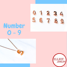 Load image into Gallery viewer, Number Pendant | Elliot Jewelry