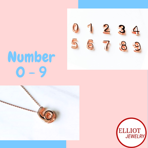 Number Pendant | Elliot Jewelry