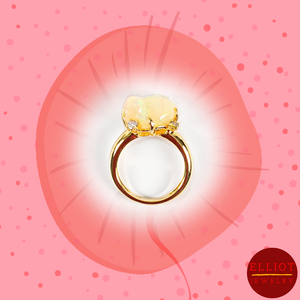 Fire Opal Ring | Elliot Jewelry